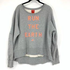 Nike Damen Sweatshirt Run The Earth Crewneck